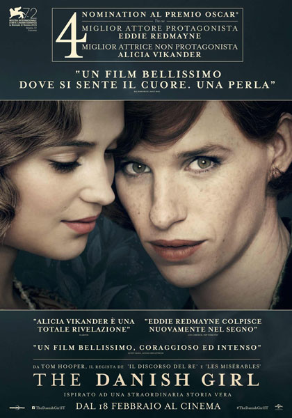 "The Danish Girl - Rassegna ""Film e Film"" - Dalle Ore 20:00 Aperitivo A Tema"